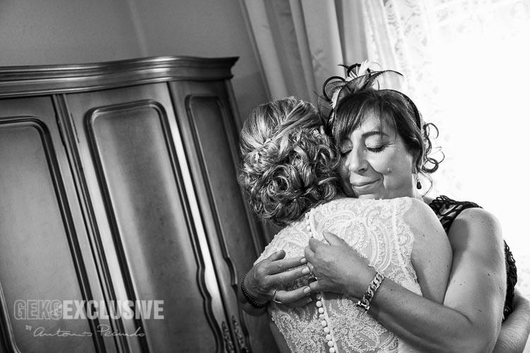 Durante los preparativos de la novia los sentimientos están a flor de piel